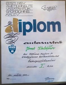 1977 diploma